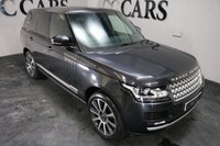USED 2013 13 LAND ROVER RANGE ROVER 4.4 SDV8 VOGUE 5d 339 BHP A Premium Range Rover Vogue Presented in Causeway Grey with Contrast Silver Wrapped Roof and a Host of High Spec Upgrades. Features Include; Luxurious Full Black Leather Interior, 20 Inch Alloy Wheels, Heated Electric Memory Seats with Lumbar Support, Heated Rear Seats, Full Length Panoramic Glass Sunroof, Contrast Side Blades, Autobiography Gear Selector and Instrument Surrounds, HDD Satellite Navigation, Full Colour Touchscreen, Bluetooth Connectivity, 4 Zone Air Conditioning, Ambient Lighting