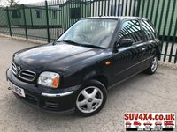 USED 2001 51 NISSAN MICRA 1.3 SE PLUS 3d 81 BHP ALLOYS BLUETOOTH A/C VOSA HISTORY MOT 08/19 BLACK MET WITH GREY CLOTH TRIM. 14 INCH ALLOYS. COLOUR CODED TRIMS. BLUETOOTH PREP. AIR CON. UPGRADED R/CD PLAYER. MOT 08/19. VOSA HISTORY. AGE/MILEAGE RELATED SALE. PART EXCHANGE CLEARANCE CENTRE LS23 7FQ. TEL 01937 849492 OPTION 4
