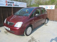 USED 2005 05 VAUXHALL MERIVA 1.4 LIFE 16V TWINPORT 5d 90 BHP FINANCE AVAILABLE FROM £16 PER WEEK OVER TWO YEARS - SEE FINANCE LINK FOR DETAILS