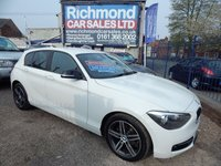 2012 BMW 1 SERIES 2.0 116D SPORT 5d 114 BHP £5995.00