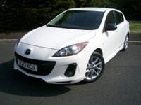 USED 2013 13 MAZDA 3 2.2 D SPORT NAV 5d 182 BHP Eye Catching Pearl White, High Specification Sport Nav Edition, JUST 36,000 Miles From New with Full Service History!!!