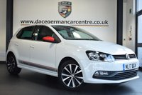 """USED 2017 17 VOLKSWAGEN POLO 1.2 BEATS TSI 5DR 89 BHP full vw service history FINISHED IN STUNNING PURE WHITE WITH HALF GREY LEATHER INTERIOR  + FULL VW SERVICE HISTORY + BLUETOOTH + DAB RADIO + CRUISE CONTROL + BEATS SURROUND SYSTEM+ HEATED MIRRORS + AUXILIARY PORT + AIR CONDITIONING + PARKING SENSORS + 16"""" ALLOY WHEELS"""