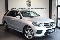 USED 2015 65 MERCEDES-BENZ GLE-CLASS 3.0 GLE 350 D 4MATIC AMG LINE 5DR AUTO 255 BHP full service history FINISHED IN STUNNING IRIDIUM METALLIC SILVER WITH FULL BLACK LEATHER INTERIOR + FULL SERVICE HISTORY + SATELLITE NAVIGATION + BLUETOOTH + CRUISE CONTROL + HEATED ELECTRIC SEATS + DUAL CLIMATE CONTROL + AUTO STOP/START + REVERSE CAMERA + ELECTRIC FOLDING MIRRORS + ELECTRIC BOOT + DAB RADIO + ACTIVE PARK ASSIST + AUTO LIGHTS + 20 INCH AMG ALLOY WHEELS