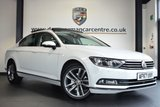 """USED 2017 67 VOLKSWAGEN PASSAT 2.0 GT TDI BLUEMOTION TECHNOLOGY 4DR 148 BHP full service history FINISHED IN STUNNING PURE WHITE WITH HALF BLACK LEATHER INTERIOR + FULL SERVICE HISTORY + SATELLITE NAVIGATION + BLUETOOTH + SATELLITE NAVIGATION +DAB RADIO + HEATED SEATS + CRUISE CONTROL + HEATED ELECTRIC FOLDING MIRRORS + RAIN SENSORS + USB/AUX PORT + AIR CONDITIONING + PARKING SENSORS + 18"""" ALLOY WHEELS"""