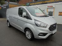 2018 FORD TRANSIT CUSTOM 2.0 300 LIMITED  L2 H1 130 BHP  LONG WHEEL BASE  !!!  NEW SHAPE MODEL !!!  MOON DUST  METALLIC SILVER   2018 YEAR   £16995.00