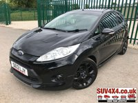 USED 2012 12 FORD FIESTA 1.6 METAL BODYKIT LEATHER FSH BODYKIT. STUNNING BLACK WITH FULL BLACK LEATHER TRIM. HEATED SEATS. 17 INCH BLACK ALLOYS. COLOUR CODED TRIMS. PRIVACY GLASS. PARKING SENSORS. REVERSING CAMERA. BLUETOOTH PREP. CLIMATE CONTROL WITH AIR CON. R/CD PLAYER. MFSW. MOT 12/19. FULL SERVICE HISTORY. P/X CLEARANCE CENTRE LS24 8EJ. TEL 01937 849492 OPTION 4