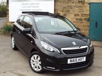 USED 2015 15 PEUGEOT 108 1.0 ACTIVE TOP 3d 68 BHP Full Peugeot Service History One Owner ZERO Rate Road Tax