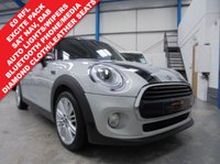 "USED 2016 66 MINI HATCH COOPER 1.5 COOPER D 5d 114 BHP £0 Road Tax, Manufacturer Warranty, Satellite Navigation, Diamond Cloth/Leather Seats, DAB Radio, Bluetooth Hands Free and Media, Cruise, Auto Air Conditioning, Mini Excitement Pack, Mini Drive Modes, Mini Connected XL, Interior Light Pack, Auto Lights and Wipers, 17"" Tentacle Alloys"