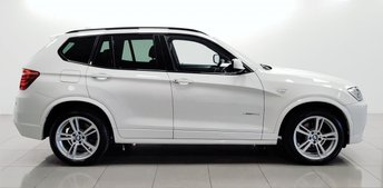 2014 BMW X3 2.0 XDRIVE20D M SPORT 5d AUTO 181 BHP £16950.00