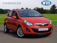 USED 2014 14 VAUXHALL CORSA 1.4 SE 5d AUTO 98 BHP Just 6200 miles on this 2014 Vx Corsa 1.4 16v SE 5dr AUTOMATIC in red with AIR CON, PARK SENSORS, HALF LEATHER TRIM AND ALLOY WHEELS. 1 owner with 4 service stamps and 2 keys.