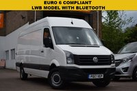 USED 2017 17 VOLKSWAGEN CRAFTER 2.0 CR35 TDI P/V L BMT 1d 138 BHP Latest Euro 6 compliant (NO ULTRA LOW LONDON EMISSION CHARGES) 2017 Vw Crafter LWB 2.0tdi 140 in white with 69000 miles.