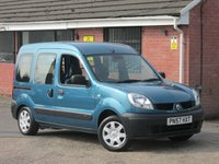2007 RENAULT KANGOO 1.1 AUTHENTIQUE (DISABLED ACCESS / WHEELCHAIR CONVERSION) 5dr £4990.00