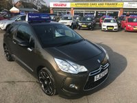 2013 CITROEN DS3 1.6 DSTYLE PLUS 3d 120 BHP WITH ONLY 40,000 MILES IN METALLIC BRONZE IN IMMACULATE CONDITION . £5799.00
