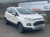 USED 2016 16 FORD ECOSPORT 1.5 TITANIUM TDCI 5d 94 BHP FINANCE AVAILABLE+BLUETOOTH+CLIMATE CONTROL+GREY HALF LEATHER+HEATED FRONT SEATS
