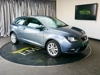 USED 2015 65 SEAT IBIZA 1.4 TOCA 3d 85 BHP £0 DEPOSIT FINANCE AVAILABLE, AIR CONDITIONING, AUX INPUT, CD/MP3/RADIO, CLIMATE CONTROL, CLOTH UPHOLSTERY, REAR PARKING SENSORS, STEERING WHEEL CONTROLS, TRIP COMPUTER