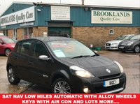 USED 2011 11 RENAULT CLIO 1.6 DYNAMIQUE TOMTOM VVT 5 AUTOMATIC Door 111 BHP Diamond Black Met. Low Miles  Sat Nav Low Miles Automatic With Alloy Wheels 2 Keys With Air Con and lots more....