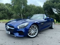 USED 2016 16 MERCEDES-BENZ AMG GT 4.0 AMG GT PREMIUM 2d AUTO  1 OWNER FULL MERCEDES SERVICE HISTORY JUST STUNNING IN BRILLIANT BLUE FULL BLACL LEATHER HEATED SEATS BURMESTER SOUND SYSTEM