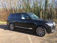 USED 2017 17 LAND ROVER RANGE ROVER 3.0 TDV6 VOGUE 5d AUTO 255 BHP ONLY 15 K MILES, TV, PAN SLIDING ROOF, JUST SERVICED