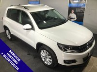 """USED 2015 15 VOLKSWAGEN TIGUAN 2.0 MATCH TDI BLUEMOTION TECHNOLOGY 5D 139 BHP DAB Radio   :   Satellite Navigation   :   AUX Socket   :   Phone Bluetooth Connectivity                  Heated Front Seats   :   Front & Rear Parking Sensors   :   17"""" Alloy Wheels"""