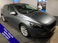 USED 2015 15 VOLVO V40 2.0 D4 SE LUX NAV 5D AUTO 187 BHP DAB Radio   :   Satellite Navigation   :   USB Socket   :   Phone Bluetooth Connectivity         Car Hotspot / WiFi     :     Full Black Leather Upholstery     :     Heated Front Seats                Rear Parking Sensors : 2 Keys : Fully Stamped Volvo Main Dealer Service History