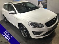 """USED 2015 15 VOLVO XC60 2.4 D5 R-DESIGN LUX NAV AWD 5d AUTO 212 BHP DAB Radio   :   Satellite Navigation   :   USB & AUX Sockets   :   Phone Bluetooth Connectivity     Car Hotspot / WiFi : Heated Front Seats & Electric Driver Seat : Hands Free Voice Control    R-Design Leather Sports Steering Wheel  :  Rear Parking Sensors  :  18"""" Alloy Wheels"""