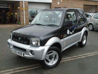 2003 SUZUKI JIMNY 1.3 O2 JLX SOFT TOP 3d 80 BHP £2795.00