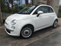 USED 2013 63 FIAT 500 1.2 LOUNGE 3d 69 BHP *PANORAMIC ROOF*BLUETOOTH*£30 POUND ROAD TAX*