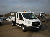 2016 FORD TRANSIT 2.2 350 L3 DOUBLE CAB DRW 125 BHP OSS Tipper Van electric windows ford body and more £15795.00