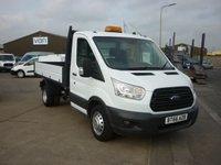 2016 FORD TRANSIT 2.2 350 SINGLE CAB DRW  124 BHP OSS TIPPER VAN £15995.00