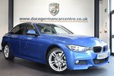 USED 2013 63 BMW 3 SERIES 3.0 330D M SPORT 4DR 255 BHP full bmw service history FINISHED IN STUNNING ESTORIL METALLIC BLUE WITH FULL BLACK LEATHER INTERIOR + FULL BMW SERVICE HISTORY + BLUETOOTH + DAB RADIO + CRUISE CONTROL + PADDLE SHIFT GEARS + PRIVACY GLASS + SPORT SEATS + LIGHT PACKAGE + RAIN SENSORS + FRONT & REAR PARKING SENSORS + 18 INCH ALLOY WHEELS