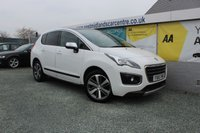 2015 PEUGEOT 3008 1.6 BLUE HDI S/S ALLURE 5d 120 BHP DIESEL WHITE £9490.00