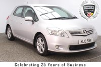 USED 2010 10 TOYOTA AURIS 1.4 TR D-4D 5DR 90 BHP FINISHED IN A STUNNING TYROL SILVER WITH GREY CLOTH INTERIOR + SERVICE HISTORY + AIR CON + CLIMATE CONTROL + MULTI FUNCTION STEERING WHEEL + ELECTRIC MIRRORS + PARKING SENSORS