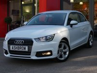 USED 2015 65 AUDI A1 1.0 TFSI SPORT 3d 95 S/S DAB RADIO, BLUETOOTH PHONE & MUSIC STREAMING, AUDI MUSIC INTERFACE (AMI), MANUAL 5 SPEED GEARBOX, START STOP TECHNOLOGY, FRONT FOG LIGHTS, 16 INCH 5 SPOKE ALLOYS, GREY TORNADO CLOTH INTERIOR, SPORT SEATS, LEATHER MULTIFUNCTION STEERING WHEEL, AIR CONDITIONING, CD & SD CARD READER, TYRE PRESSURE MONITORING SYSTEM, ELECTRIC WINDOWS, ELECTRIC HEATED DOOR MIRRORS, ISO FIX, FOLDING REAR SEATS, AIRBAGS WITH PASSENGER OFF FUNCTION.  1 OWNER FROM NEW, GOOD SERVICE HISTORY, £0 ROAD TAX (97 G/KM), VAT Q