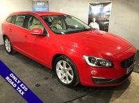 """USED 2014 14 VOLVO V60 2.0 D4 SE LUX NAV 5D AUTO 178 BHP Satellite Navigation         :         Car Hotspot / WiFi         :         Phone Bluetooth Connectivity           Climate Control / Air Conditioning : Heated Front Seats : Front & Rear Parking Sensors     17"""" Alloy Wheels : 2 Keys : Comprehensive Service History"""