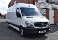 2016 MERCEDES-BENZ SPRINTER 2.1 313 CDI Lwb High Roof 129 BHP £10949.00