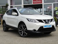 USED 2015 15 NISSAN QASHQAI 1.5 DCI TEKNA 5d 108 BHP STUNNING, 1 OWNER, ZERO TAX, NISSAN QASHQAI 1.5 DCI TEKNA. Finished in PEARL STORM WHITE with contrasting BLACK HEATED LEATHER trim. The Qashqai is one of the best selling SUV's around at the moment. This facelifted Top of the range edition is comfy, easy to drive and has enough space for 5 adults. Features include, ZERO Road Tax, Full heated leather, Sat Nav, Pan Roof, 360 Reverse Cameras, DAB, B/Tooth and much more. Dealer serviced at 23196 miles and recently by EMC at 43600 miles.