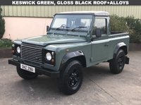 USED 2002 LAND ROVER DEFENDER 90 2.5 90 TD5 COUNTY P/U 1d 120 BHP NO VAT! GLOSS BLACK ROOF, BLACK BOOST ALLOYS, MOT TO FEB 2020