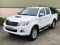 USED 2015 65 TOYOTA HI-LUX 3.0 INVINCIBLE 4X4 D-4D DCB 1d 169 BHP LOW MILES, REVERSE CAMERA, ALLOYS, LINER - EXTRAS AVAILABLE