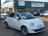 2015 FIAT 500 1.2 C LOUNGE White with Red Roof 69 BHP £SOLD