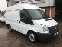 2013 FORD TRANSIT  2.2 SWB MEDIUM ROOF 1 OWNER AIR CON *FSH* VERY CLEAN VAN £6995.00