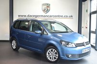 USED 2015 64 VOLKSWAGEN TOURAN 2.0 SE TDI BLUEMOTION TECHNOLOGY 5DR [5 SEATS]138 BHP full service history * NO ADMIN FEES * FINISHED IN STUNNING BLUE WITH CLOTH UPHOLSTERY + FULL SERVICE HISTORY + SATELLITE NAVIGATION + BLUETOOTH + PARKING SENSORS + AUTOMATIC LIGHTS + ECO STOP/START + AIR CONDITIONNIG + LIVE TRAFFIC UPDATES+ DAB RADIO + 16 INCH ALLOY WHEELS