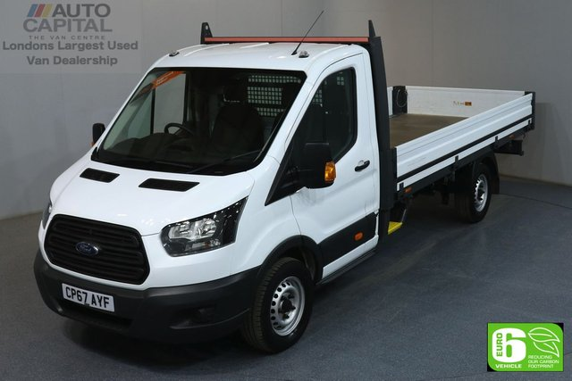2018 67 FORD TRANSIT 2.0 350 L4 EXTRA LWB 129 BHP EURO 6 DROPSIDE LORRY MANUFACTURER WARRANTY UNTIL 16/01/2021