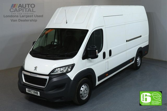 2017 17 PEUGEOT BOXER 2.0 BLUE HDI 435 L4H3 XLWB 130 BHP EURO 6 ENGINE MANUFACTURER WARRANTY UNTIL 24/07/2020