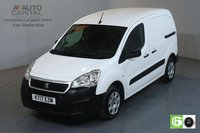 USED 2017 17 PEUGEOT PARTNER 1.6 BLUE HDI PROFESSIONAL L1 SWB 100 BHP AIR CON EURO 6 MANUFACTURER WARRANTY UNTIL 30/07/2020