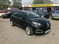 USED 2014 K RENAULT CAPTUR 0.9 DYNAMIQUE MEDIANAV ENERGY TCE S/S 5d 90 BHP IN BLACK WITH ONLY 27000 MILES IN IMMACULATE CONDITION. APPROVED CARS ARE PLEASED TO OFFER THIS RENAULT CAPTUR 0.9 DYNAMIQUE MEDIANAV ENERGY TCE S/S 5 DOOR 90 BHP IN BLACK WITH A GOOD SPEC INCLUDING SAT NAV,CENTRAL LOCKING,AIR CON,CRUISE CONTROL AND MORE WITH A FULL SERVICE HISTORY IN THE BEST COLOUR BLACK AND AT A VERY SENSIBLE PRICE.(PRIVATE PLATE NOT INCLUDED THE CAR WILL GO BACK ON ITS ORIGINAL NUMBER PLATE)PLEASE CALL 01622-871-555 TO ARRANGE YOUR VIEWING TODAY.