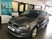 USED 2011 61 VOLKSWAGEN POLO 1.4 SEL DSG 5d AUTO 85 BHP This fully automatic Polo is finished in Nimbus Grey metallic with Black cloth seats. It is fitted with power steering, central locking, electric windows, remote mirrors, air conditioning, CD Stereo, alloys more. It comes with a full VW service history consisting of five stamps. Its MOT runs until December 2019, we will supply it with 12 months (free of advisory notice) a service and a 6 month RAC warranty with 12 months Roadside assist. Finance and extended warranties are available.