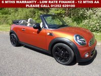 USED 2013 13 MINI CONVERTIBLE 2.0 COOPER D 2d AUTO 110 BHP All retail cars sold are fully prepared and include - Oil & filter service, 6 months warranty, minimum 6 months Mot, 12 months AA breakdown cover, HPI vehicle check assuring you that your new vehicle will have no registered accident claims reported, or any outstanding finance, Government VOSA Mot mileage check. Because we are an AA approved dealer, all our vehicles come with free AA breakdown cover and a free AA history check.. Low rate finance available. Up to 3 years warranty available.