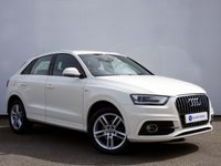 USED 2012 62 AUDI Q3 2.0 TDI S LINE 5d 138 BHP AUDI MMI SYSTEM with BLUETOOTH TELEPHONE SYSTEM......