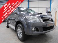 "USED 2015 65 TOYOTA HI-LUX 2.5 ICON 4X4 D-4D DCB 1d 142 BHP Full Toyota Service History, Rear Parking Camera, Bluetooth Phone and Media Streaming, Colour Coded Truckman Top, Air Conditioning, Power Folding Mirrors, Headlight Wash Function, Remote Locking with 2 Keys, Side Steps, 4X4, 17"" Alloys"