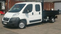 2014 CITROEN RELAY 2.2 35 L3 HDI 1d 129 BHP CREW CAB TIPPER 1 OWNER NO VAT TO ADD FREE 12 MONTHS WARRANTY COVER  £7390.00